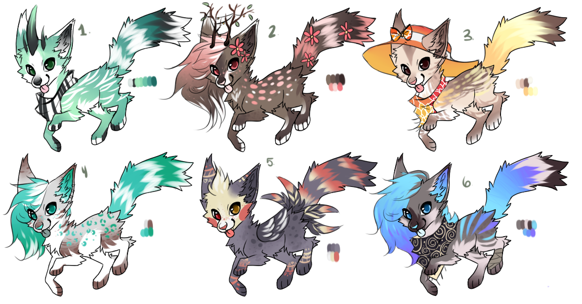 Wolf / Dog Adopts: [ CLOSED ] by SwashbuckIer on DeviantArt