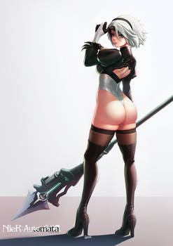 Nier Automata 2B (color)