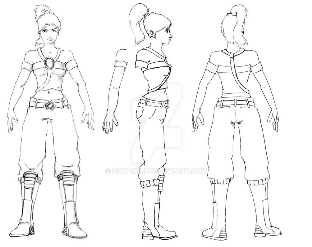Blender Character Modeling Template : Calantha model sheet by hataka on deviantart