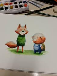 quick watercolor