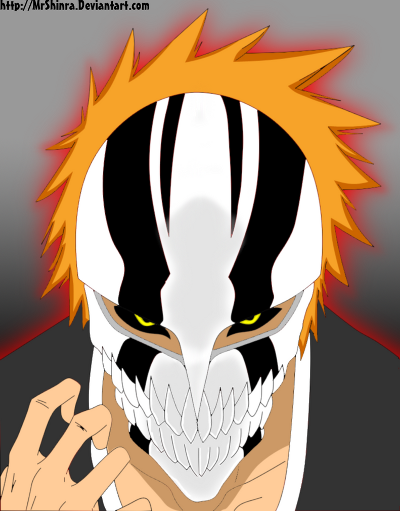 New hollow mask ichigo by mrshinra on deviantart - Ichigo vizard mask ...