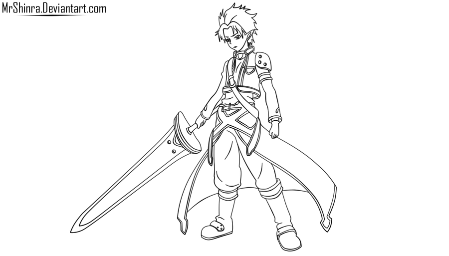 Kirito Lineart : Kirito alfheim lineart by mrshinra on deviantart