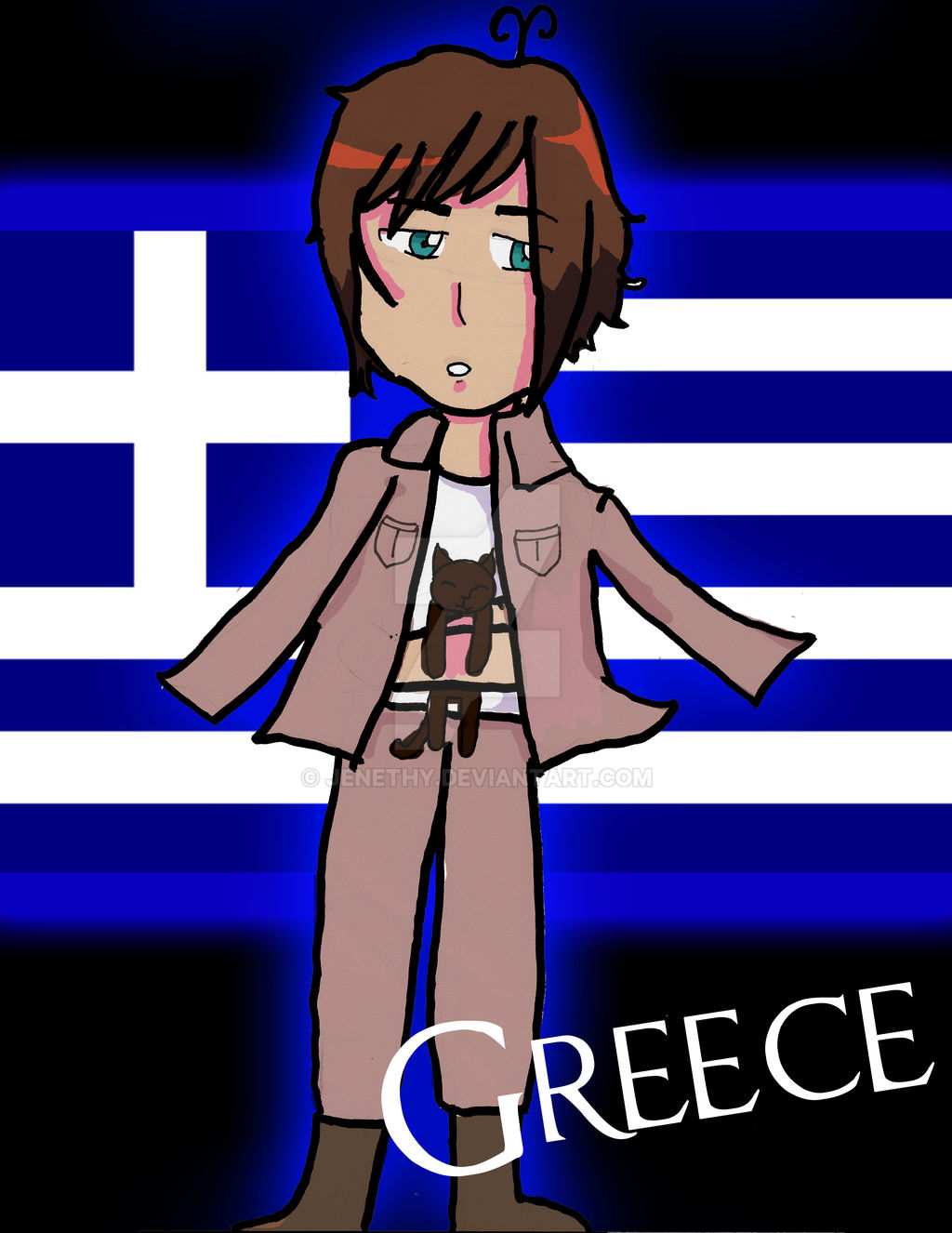 Greece Bookmark (New :D)