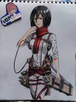 Mikasa ackerman by kaium724