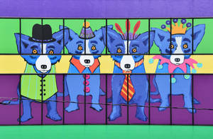 Blue Dogs of New Orleans