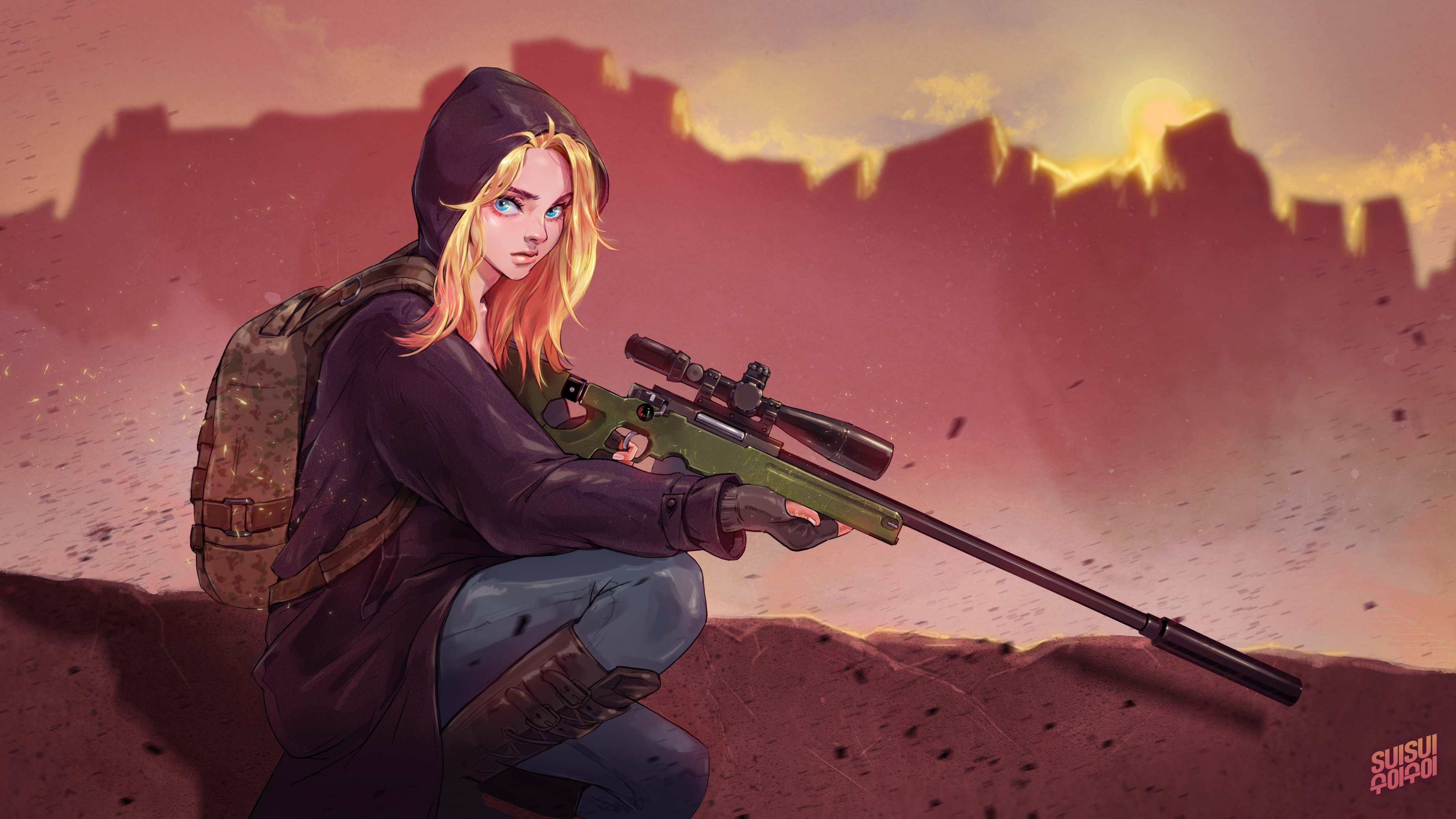 Pubg Wallpaper Engine Illustration By Hey Suisui