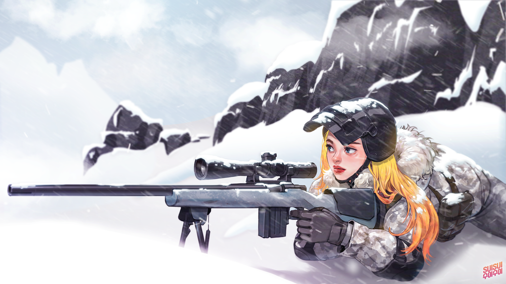 Pubg Sniper Wallpaper Engine: PUBG M24 + Lv.3 Helmet 4K Illustration By Hey-SUISUI On