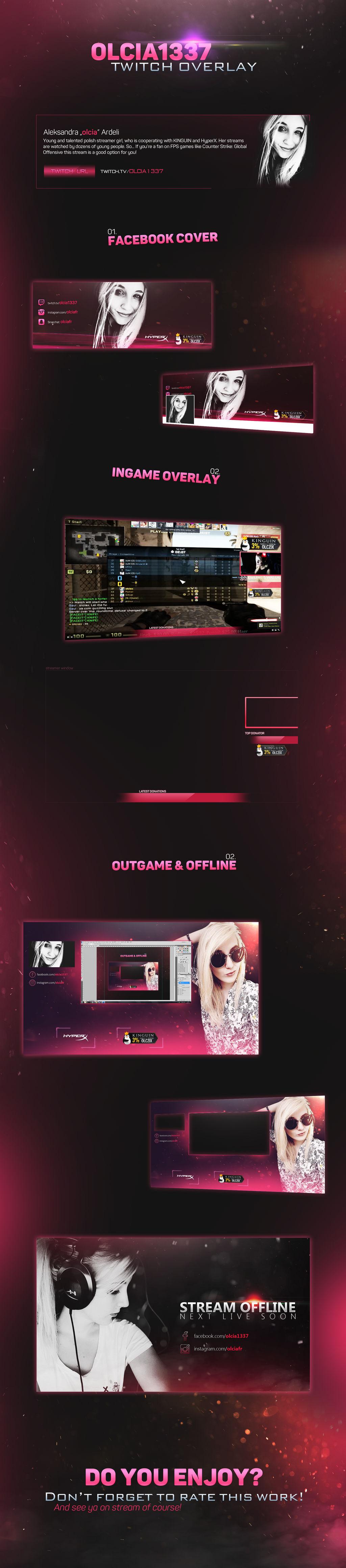 Olcia1337 Twitch stream overlay by inn21 on DeviantArt
