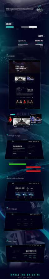 GamerLAN WEB LAYOUT
