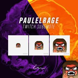 paulelRage Twitch Emote