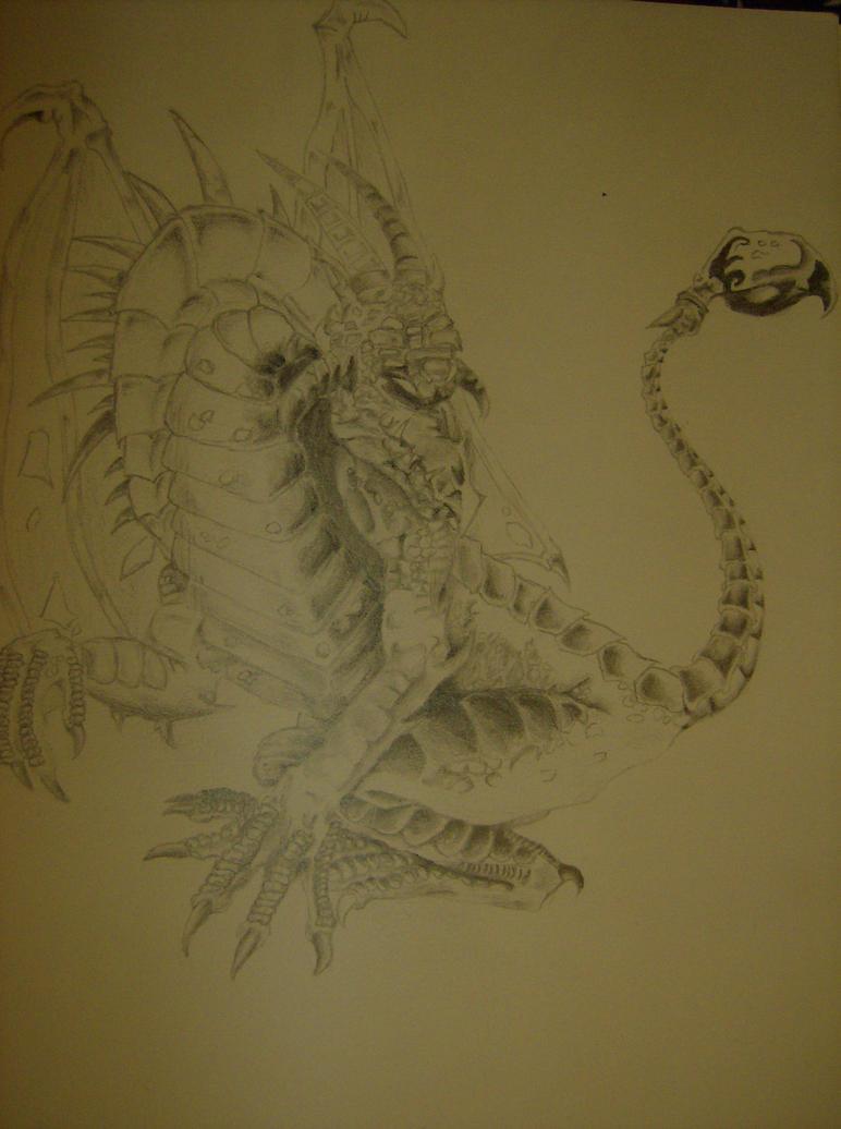 Fantasy Dragon Pencil Drawing by Gareque on DeviantArt