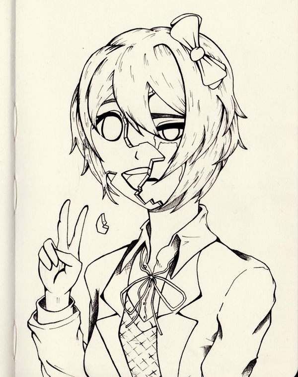 Line Art Karawaci : Ddlc sayori line art by gareque on deviantart