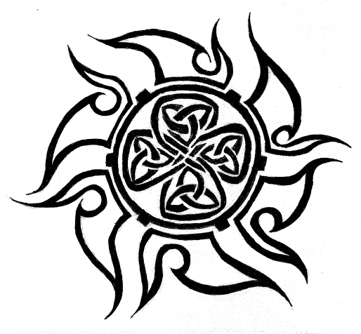 Shark Teeth Tattoos Celtic sun tattoo by ~MordredLeFay on deviantART