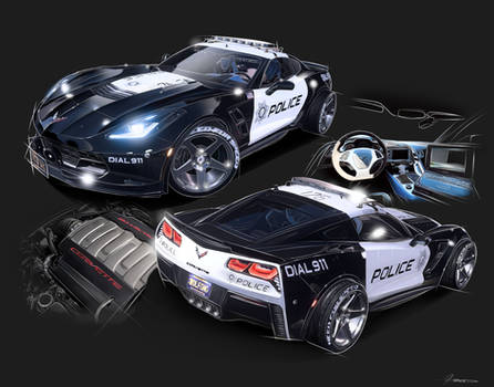 Police Corvette Reference
