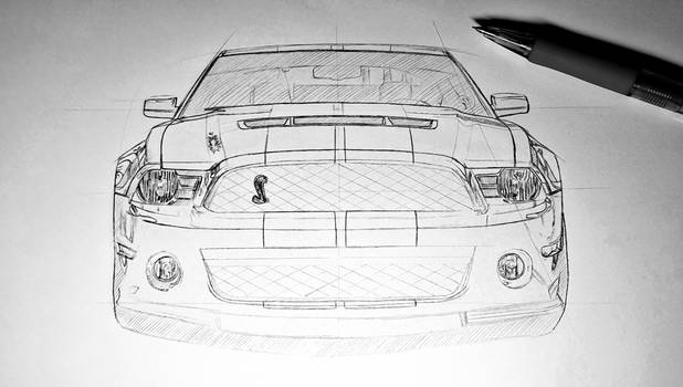 Process Sketch Shelby Front