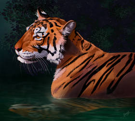Tiger speedpaint study