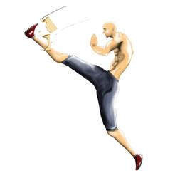 flying kick by Majeed-Q8