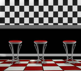 American Diner Background