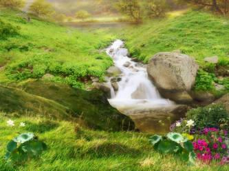 Pre-made stream background