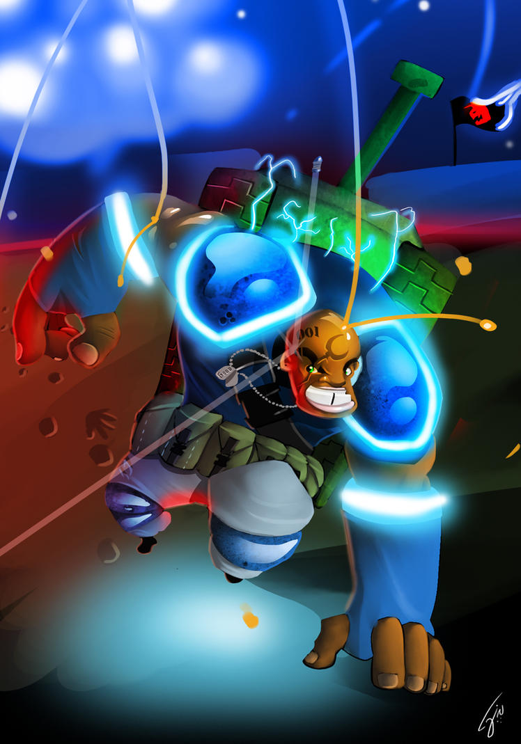 Superhero Omegatank by ZeyJin