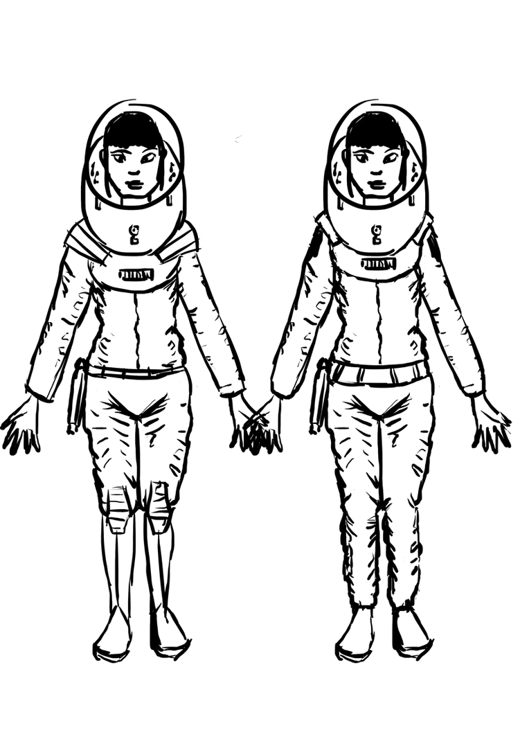 Space Girl - space suit concepts by Renegade-Hamster on ...