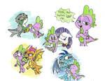 Spike ships by StarPaintArt
