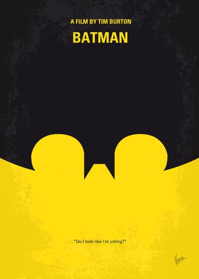No008 My Batman minimal movie poster by Chungkong