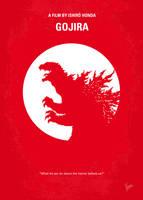 No029-1 My Godzilla 1954 minimal movie poster by Chungkong