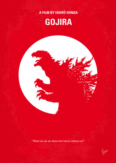 No029-1 My Godzilla 1954 minimal movie poster by Chungkong