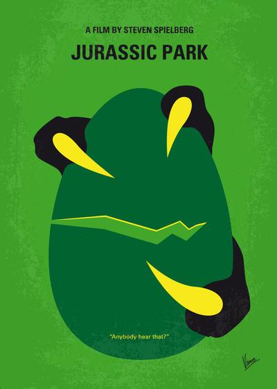No047 My Jurasic Park minimal movie poster by Chungkong