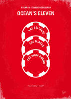 No056 My Oceans 11 minimal movie poster by Chungkong