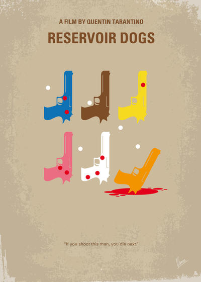 No069 My Reservoir Dogs minimal movie poster by Chungkong