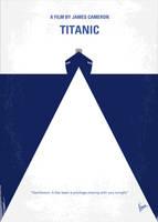 No100 My Titanic minimal movie poster by Chungkong
