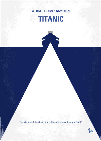 No100 My Titanic minimal movie poster by Chungkong