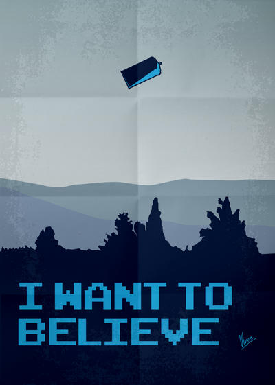 My I Want To Believe Minimal Poster Tardis Dr Who By Chungkong
