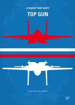 No128 My TOP GUN minimal movie poster