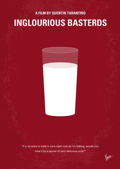 No138 My Inglourious Basterds minimal movie poster by Chungkong