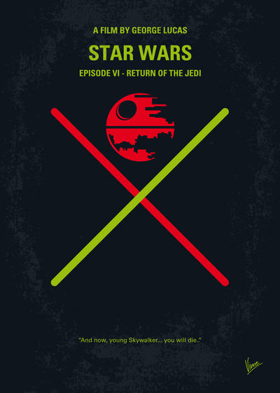 My STAR WARS VI Return of the Jedi minimal poster by Chungkong