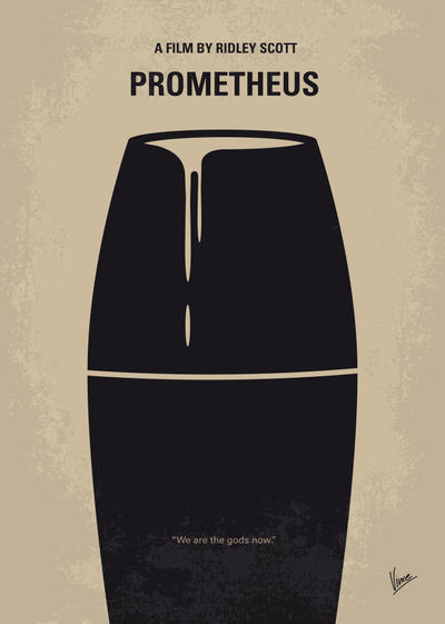 No157 My Prometheus minimal movie poster by Chungkong