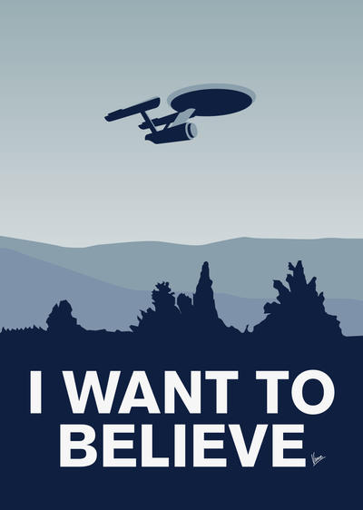 My I want to believe minimal poster-Enterprice by Chungkong