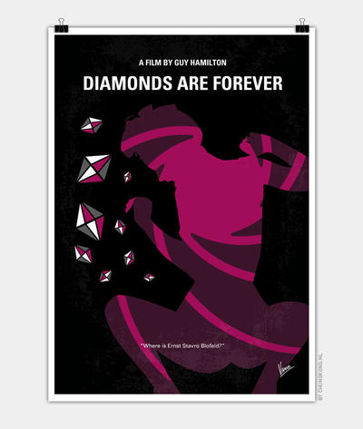 No277-007 My Diamonds Are Forever minimal poster by Chungkong