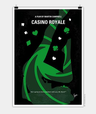 No277-007-2 My Casino Royale minimal movie poster by Chungkong