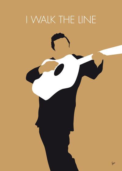 No010 MY Johnny Cash Minimal Music poster by Chungkong