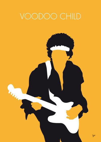 No014 MY Jimi Hendrix Minimal Music poster by Chungkong