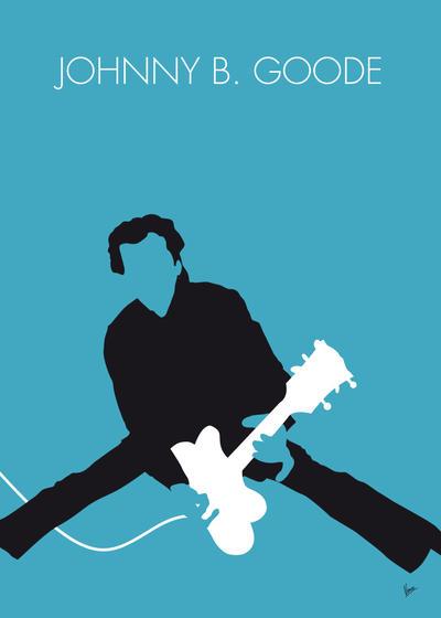 No015 MY Chuck Berry Minimal Music poster by Chungkong