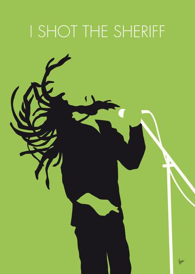 No016 MY Bob Marley Minimal Music poster by Chungkong