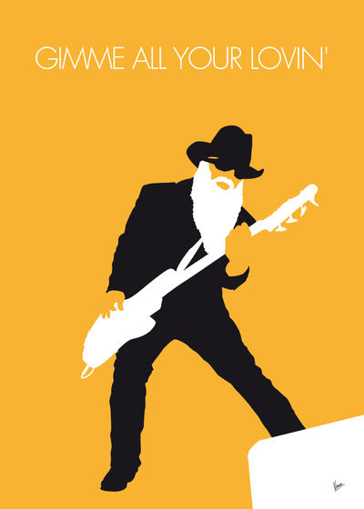 No044 my zz top minimal music poster by chungkong on for Art minimaliste musique
