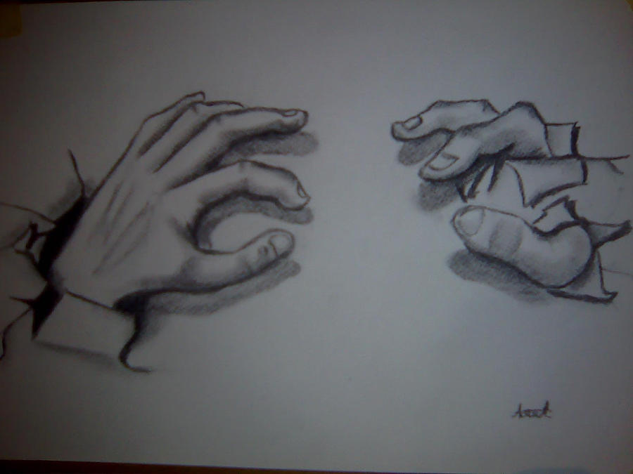 3d Line Drawing Hand : D draw hands by asqe on deviantart