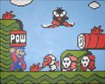 Mario POWs the baddies
