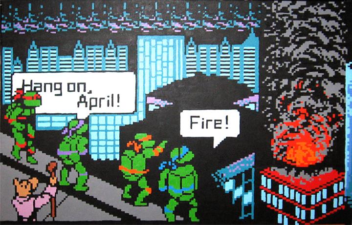 Hang On, April! by Squarepainter